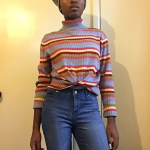 Vintage Talbots colorful turtle neck sweater